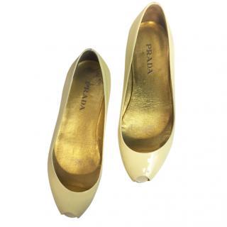 Prada peep toed ballet shoes