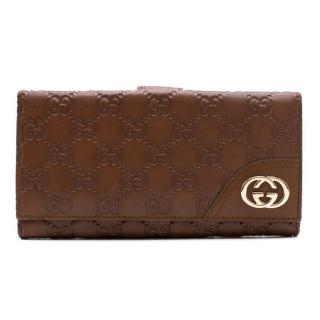 Gucci GG Brown Leather Wallet