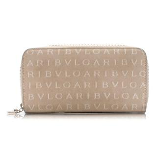 Bvlgari Beige Monogram Beige Canvas Purse