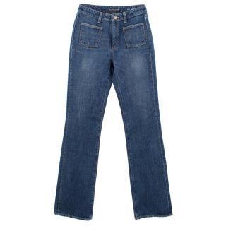 Saint Laurent Flared Cotton Jeans