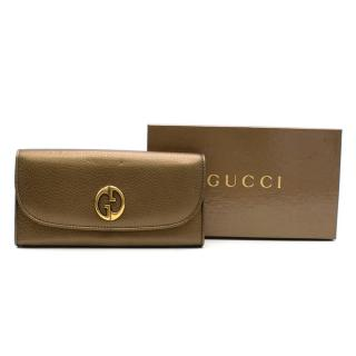 Gucci Bronze leather wallet