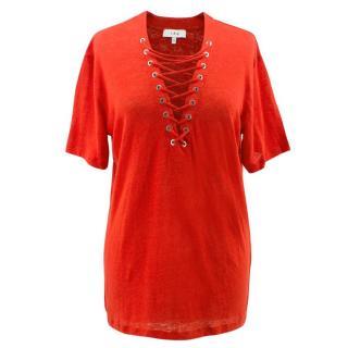 Iro Red Linen T-shirt