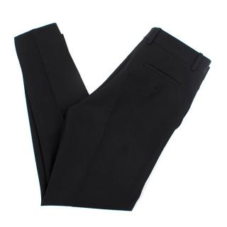 Victoria Beckham Black Wool Straight- Leg Trousers