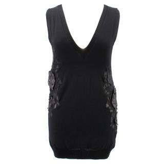 Ermanno Scervino Vest Top With Flowers