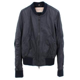 Burberry Brit Black Leather Bomber Jacket