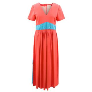 Roksanda Pink and Blue Silk Maxi Dress
