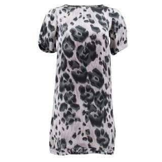 Stella Mccartney Silk Grey Leopard Dress