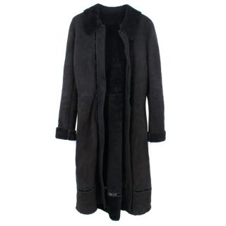 Gianni Versace Long Suede Leather Coat
