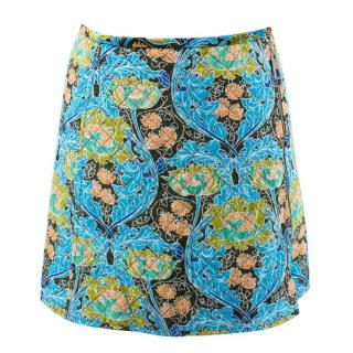 Louis Vuitton Blue and Green Quilted Mini Skirt
