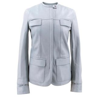 Tom Ford Light Blue Leather Jacket