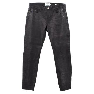 Frame Lamb Leather Black Trousers