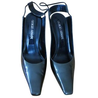 Giorgio Armani patent leather Heels