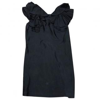 See by Chloe black ruffle sleeve dress