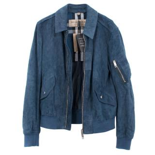 Burberry Stone Blue Goat Suede Jacket