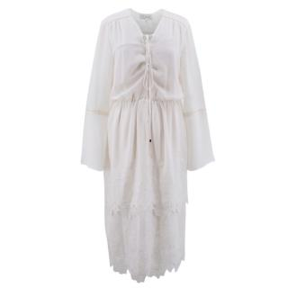 WAYF Boho White Dress