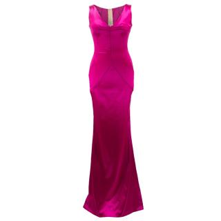 Dolce & Gabbana Satin Bright Pink Gown