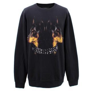 Givenchy Black Dobermann Cotton Jumper