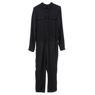 Bonpoint Black Polka Dot Long Jumpsuit