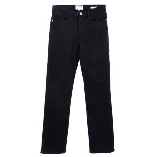 Frame Le High Straight Black Cotton Jeans