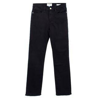 Frame Le High Straight Black Cotton Jeans