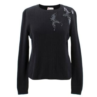Red Valentino Wool Blend Textured Jumper