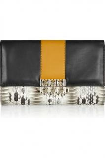 Christian Louboutin Roxane Leather and Python Wallet