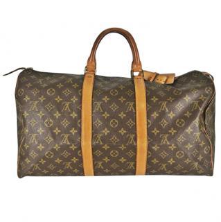 Louis Vuitton Keepall 50Monogram Travel Bag