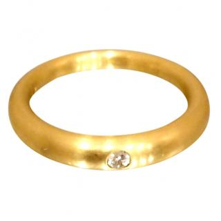 Paul Spurgeon D Flawless Brushed Gold 18ct Diamond Ring