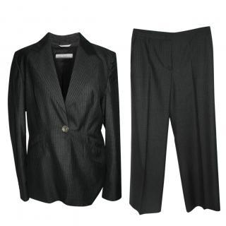 Max Mara pinstriped silk wool suit