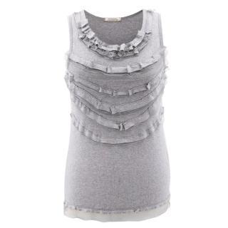 Nina Ricci Cotton Sleeveless top with ruffles