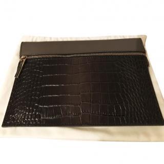 Victoria Beckham small croc effect pouch