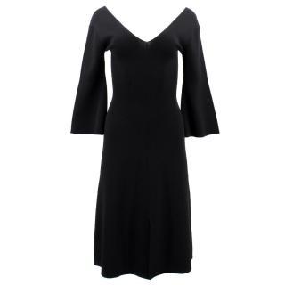 By Malene Birger Black V- neck Dress