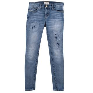 Current Elliott Ankle Skinny Ripped Washed Jeans