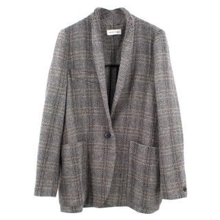 Isabel Marrant Etoile Oversized grey plaid jacket