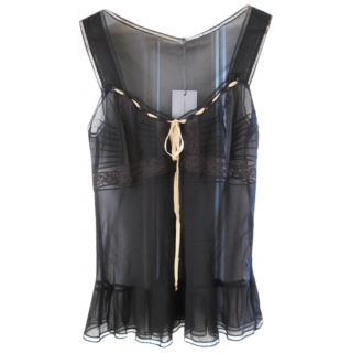 Alberta Ferretti silk camisole/knicker set.