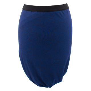 T by Alexander WangSet of two draped & fitted skirts in blue and black
