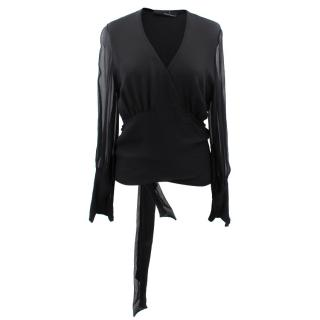 Amanda Wakeley Silk Wrap Around Top