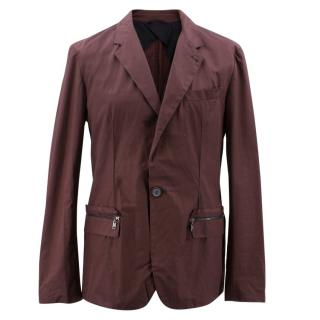 Lanvin Burgundy Cotton Blazer