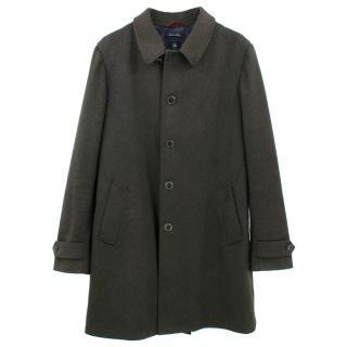 Fay Wool Blend Dark Green Coat