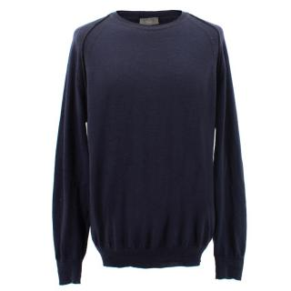 Dior Wool Blend Men's Navy Jumper