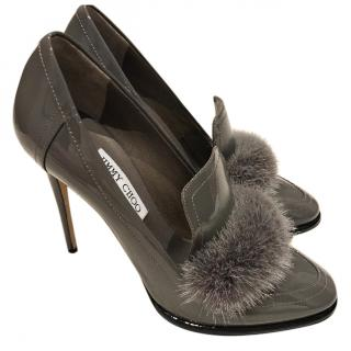 Jimmy Choo Lyza 110 Patent grey and mink AW16 - Eu40