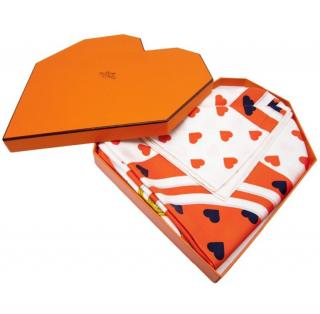 Hermes limited Edition Scarf in a Heart Shaped Box - sold out