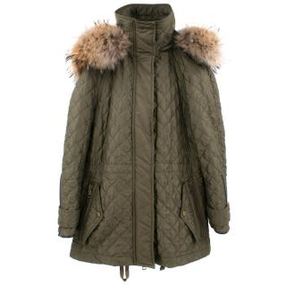 Burberry Coat with Fur Hoodie