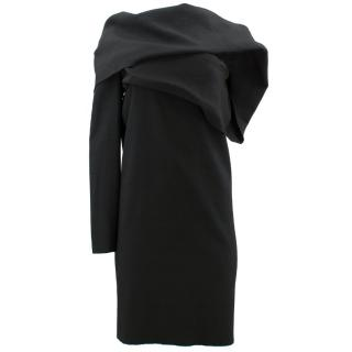 Lanvin Wool Blend One Shoulder Dress