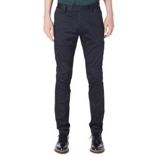 ACNE STUDIOS Max Satin stretch-cotton chino navy trousers