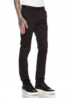 ACNE STUDIOS Max Satin stretch-cotton chino black trousers