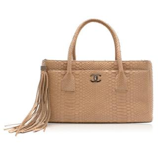 Chanel Nude Python Shopper Bag