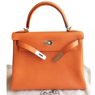 Hermes Kelly 28 - Orange - Brand New - Full set
