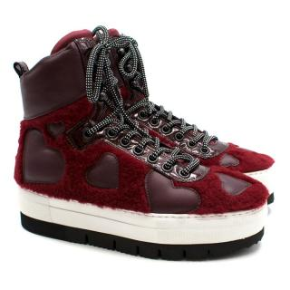 Philippe Model Red Sneakers