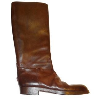 Golden Goose Brown Horse Boots